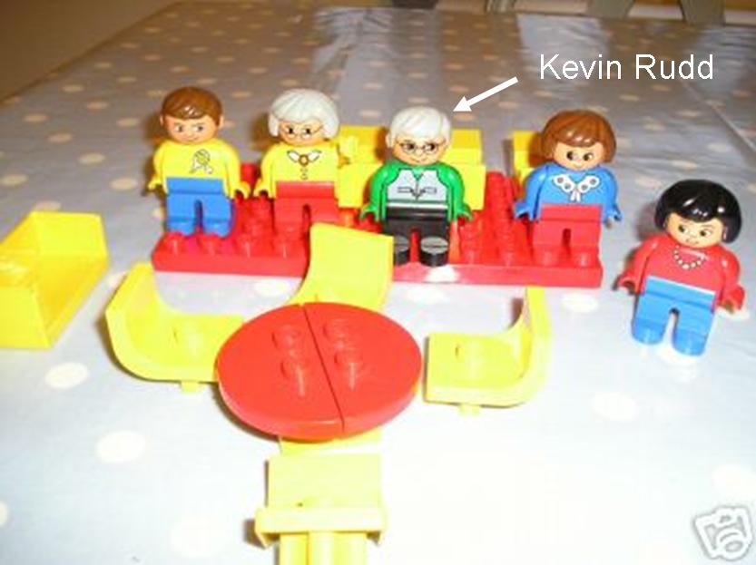 Duplo Kevin - such shiny hair!