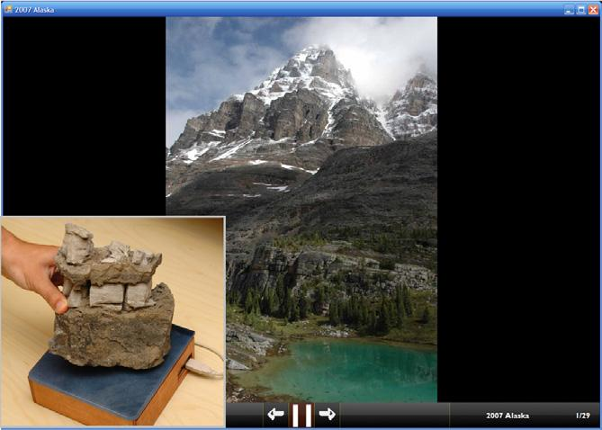 Souvenir - the tagged rock and the image it is associated with
